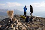 Frío en la cima del Casco